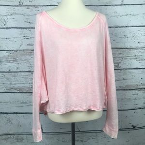 {We the Free} Free People Pink Sweater